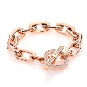 Classic Michael Kors toggle bracelet Rose tone